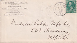 USA 1882 LETTRE DE MONTROSE - Cartas