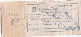 EQUATEUR 1954 COLIS POSTAL - Ecuador
