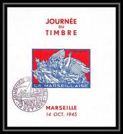 111246 Bloc Feuillet Souvenir Bouches Du Rhone Marseille Bloc Journée Du Timbre 1945 NON DENTELE ** (imperforate) - Expositions Philatéliques