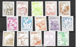 Vietnam Animals And Flora Complete Set 14 Euros Mint No Hinge 1984 - Vietnam