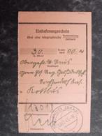 DEUTSCHLAND 1943 Einlieferungsschein ST.WENDEL SAAR - Brieven En Documenten