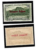 Col.Fr.- Réunion N° 199 ** - Surcharge Recto-verso - Unused Stamps