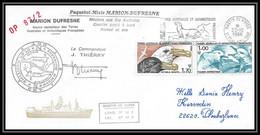 2294 ANTARCTIC Terres Australes TAAF Lettre Cover Dufresne OP 87/2 Signé Signed 22/12/1986 Oiseaux (birds) - Briefe U. Dokumente