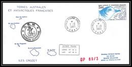 2301 ANTARCTIC Terres Australes TAAF Lettre Cover Dufresne N° 142 Op 89/3 7/3/1989 Oiseaux (birds) Poitou Charentes - Briefe U. Dokumente