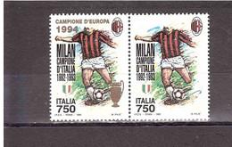1993 £750 MILAN CAMPIONE D'ITALIA 1992-1993 + CAMPIONE D'EUROPA 1994 - Clubs Mythiques