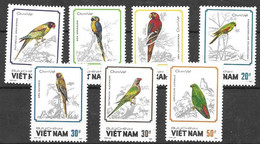 Vietnam Birds Complete Set Mint No Hinge 1988 6 Euros - Zonder Classificatie