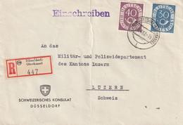 Allemagne Ambulant Düsseldorf-Oberkassel Pour La Suisse 1952 - Cartas