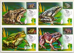 2732 2735 Fauna Of Russia Frogs 2021 Maximum Cards - Cartes Maximum