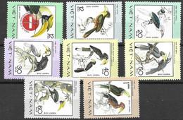 Vietnam Birds Complete Set Mint No Hinge 8 Euros 1977 - Zonder Classificatie