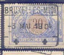 B396 -België  Spoorweg Chemin De Fer  Met Stempel BRUXELLES MIDI - 1895-1913