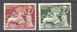 Allemagne  -  Reich  :  Yv  740-41  ** - Ongebruikt