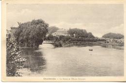 CPA - CHARLEVILLE - LA MEUSE ET L'ECOLE NORMALE - Charleville