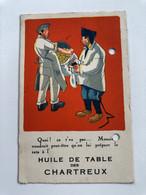 CP  Ancienne Publicitaire Huile De Table Des Chartreux Cachet Couture Malo Les Bains - Advertising