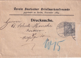 "1904 - GERMANIA - ENVELOPPE ENTIER PRIVEE ""VEREIN DEUTSCHER BRIEFMARKENFREUNDE"" De BERLIN - Postwaardestukken"