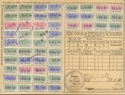 Carte Quittance Alsace Lorraine Timbres Fiscaux 1915 - Fiscales