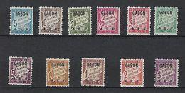 "Gabon Taxe YT 1 à 11 "" Type Duval "" 1928 Neuf* - Timbres-taxe"