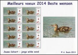 DUOSTAMP** / MY STAMP** - Jeune Colvert / Jonge Wilde Eend / Junge Stockente / Young Mallard - BUZIN - Año Nuevo