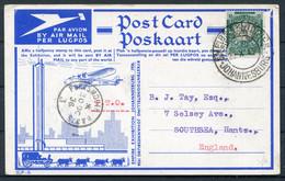1936 South Africa Empire Exhibition Johannesburg Airmail Postcard. Air Station, Rand Airport - Briefe U. Dokumente