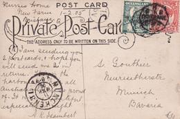 AUSTRALIE 1905  QUEENSLAND  CARTE DE BRISBANE - Briefe U. Dokumente