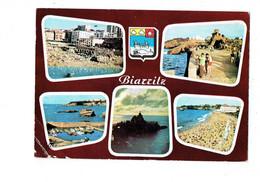 Cpm - BIARRITZ - Rocher De La Vierge - Blason Coquille Baleine - ESTEL 1775 - Biarritz