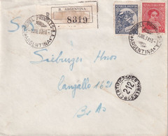 ARGNETINE 1938 LETTRE RECOMMANDEE - Briefe U. Dokumente