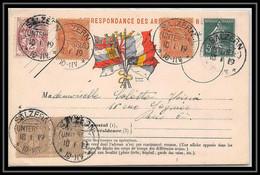 42384 Carte Postale De Franchise Alsace Lorraine Cachet Allemand Sur Timbre Francais SALZERN Saulxures 1919 - Guerra Del 1914-18