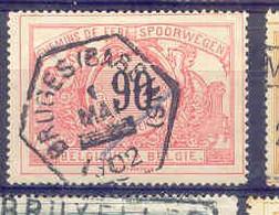 B523 -België  Spoorweg Chemin De Fer  Met Stempel BRUGES - 1895-1913