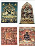 Lot 4 Cpm - TIBET - Mandala De Vajrâmrita - Mahakala Dieu Protecteur - Tibet
