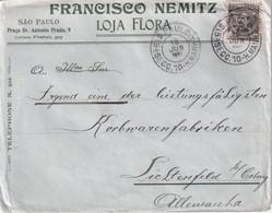 BRESIL 1907 LETTRE DE SAO PAULO - Lettres & Documents