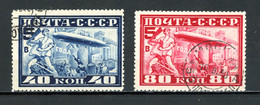 Russie    Y&T   PA 20B - 21B   Obl   ---    Dentelé 10 1/2  --  Très Bel état. - Gebraucht