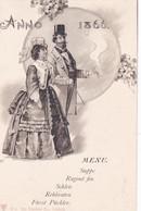 Art Nouveau - Illustrateur - Couple - Anno 1866 - Menu - Edit. Dr. Trenkler Co.Leipzig  - B5          (143/1) - Parejas