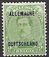 Occupation Belge En Allemagne   -   1919 .  Y&T N° 4 * - Occupation 1914-18