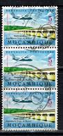Mozambique 1962 Mi.: 490 Afi.: CA28 Block Of 3 USED - Mozambique