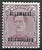 Occupation Belge En Allemagne   -   1919 .  Y&T N° 7 * - Occupation 1914-18