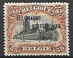 Occupation Belge En Allemagne   -   1919 .  Y&T N° 10 * - Ocupación 1914 – 18