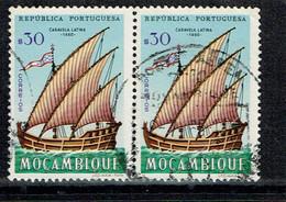 Mozambique 1963 Mi.: 496 Afi.: 461 Block Of 2 USED - Mozambique
