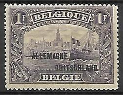 Occupation Belge En Allemagne   -   1919 .  Y&T N° 14 * - Occupation 1914-18