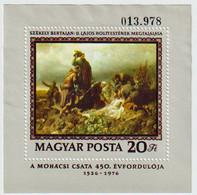 450. Jahre Schlacht Bei Mohacs 1976  Mi Block 120 A - Blocks & Sheetlets