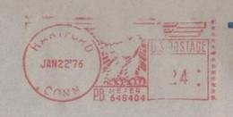 EMA METER STAMP FREISTEMPEL HARTFORT CONNECTICUT USA 1976 BANK COVER - Autres