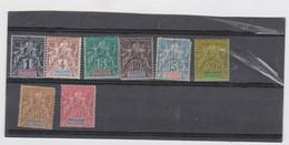 COLONIES FRANCAISES OCEANIE (POLYNESIE) 8 T Neufs X - N° YT 1 3 4 5 6 7 9 11 - 1892 - Unused Stamps