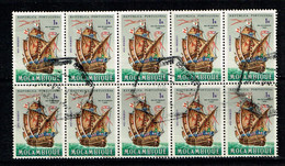 Mozambique 1963 Mi.: 498 Afi.: 463 Block Of 10 USED - Mozambique