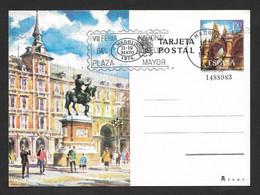 Espagne 1974 Entier Postal Cachet Feria Del Sello Plaza Mayor Madrid España Spain Postal Stationery Stamp Fair Pmk - 1931-....