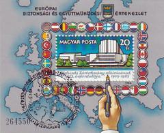 """Jubiläumskonferenz""""10.Jahrestag Der Unterzeichnung-Schlussakte"""" Helsinki Der KSZE  Mi Block179 A  1985 - Blocks & Sheetlets"""