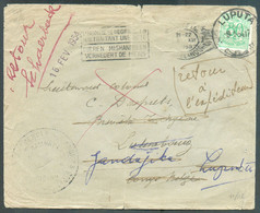 Belgique 80c. Sur Lettre (à Côté) Obl. Mécanique De BRUXELLES (NORD) 5 12-1953 Vers Luluabourg (biffé) /Jandajika (biffé - 1947-60: Lettres
