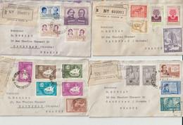 LOT De  12   ENVELOPPES  +1  LETTRE- TIMBRES   D' ARGENTINE - Cartas