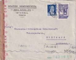 TURQUIE 1942 LETTRE CENSUREE DE ISTANBUL - Briefe U. Dokumente