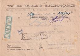 ROUMANIE 1952 PLI AERIEN RECOMMANDEE DE BUCAREST AVEC CACHET ARRIVEE CLICHY - Covers & Documents