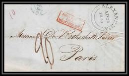 36335 Marseille 1843 Steamer Liverpool Rothschild Egypte Egypt Purifié Lazaret Marque Postale (maritime Cover Schiffspos - Posta Marittima