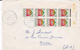 """1er Jour """"ARMOIRIES DE NANTES"""", 15 Nov 1958, Avec 7 TP 3 F Coin Daté - Non Classificati"""