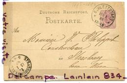 - DEUTSCHE  REICHSPORT - Postkarte, Janvier, 1980, Pour Strasbourg, TBE, Cachet Schlettstadt, Scans. - Briefe U. Dokumente